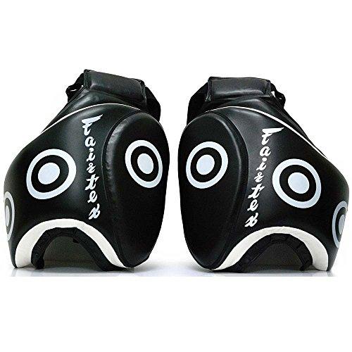 Fairtex Thigh Pads, Deluxe, schwarz, Low Kick Protector Beinschutz Pad Muay Thai