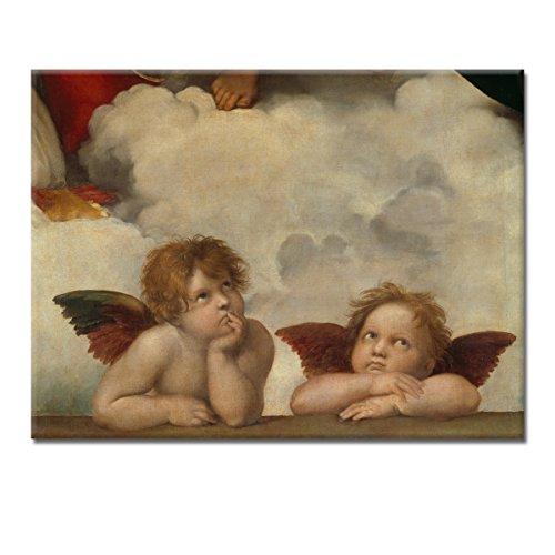 WANDKINGS Leinwandbild Zwei Engel von Raffael / 40 x 30 cm/auf Keilrahmen
