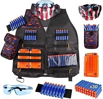 Uwantme Kids Tactical Vest Kit for Nerf Guns N-Strike Elite Series