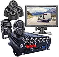 JOINLGO 8-CH GPS WiFi 4G 1080N AHD HDD Mobile Vehicle Car DVR MDVR Video Recorder Kit with 8pcs 1080P 2.0MP Car Camera 10 inch Screen Remote View on PC Phone for Truck Van Bus RV