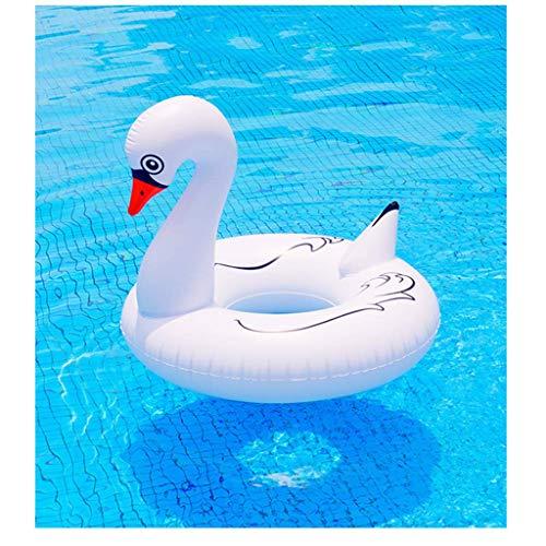 NDYD Piscina flotando Flamenco Flamenco Piscina flotan Anillo de natación Piscina Inflable Piscina Juguetes bool Piscina inflables Piscina Fiesta blanco-120 cm DSB (Color : White, Size : 120CM)