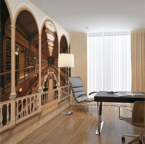Mbwlkj Rom Column Library Bookshelf 3D Wallpaper Wandbilder Für Wohnzimmer Wände Rolle Tapetenrolle-400cmx280cm