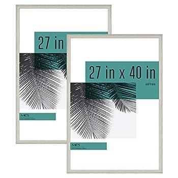 MCS Industries Studio Gallery Frames 27x40 in Gray Woodgrain 2 Count