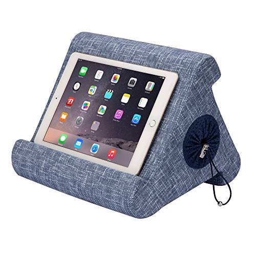 Flippy with New Storage Cubby Multi-Angle Soft Pillow Lap Stand for iPads, Tablets, eReaders, Smartphones, (Blue are You)