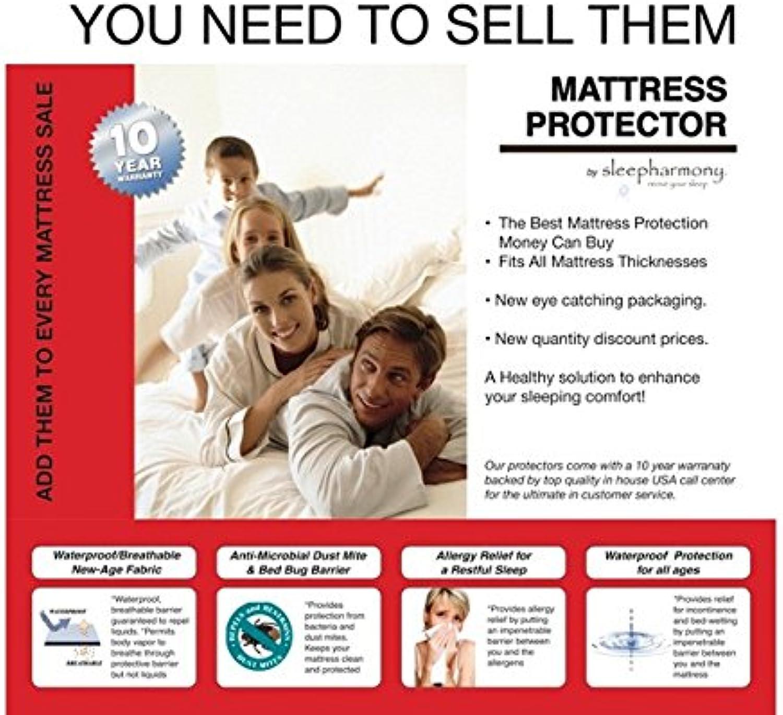 Donco Trading Company 2250F White Full Mattress Predector