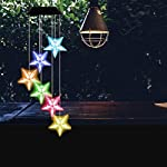 Color-Changing Wind Chime, Wishshopping Solar Power Wind Chimes Lights Hanging Lamp Night Light For Home, Party… 5