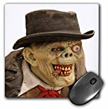3dRose mp_156798_1 8' x 8' Creepy Old Man and Monster Face Costume Mouse Pad