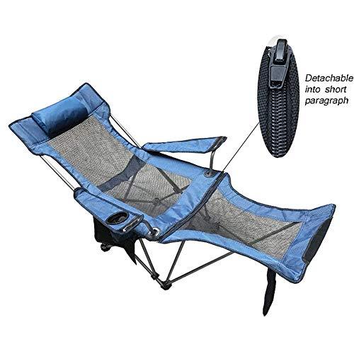 WCJ Plegable Silla de Playa con Bolsa de Transporte, portátil al Aire Libre con apoyabrazos for Exterior Oficina del Respaldo del sillón jardín Junto al mar sillas de Pesca Que acampan