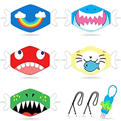 Amazon - Save 50%: Kids Face Madks Reusable Adjustable Breathable Face Madks For Kids, Cloth Face…