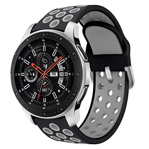 Syxinn Compatible para 22mm Correa de Reloj Galaxy Watch 46mm/Gear S3 Frontier/Classic Banda de Reemplazo de Silicona Deportiva Pulsera para Moto 360 2nd Gen 46mm/Huawei Watch GT/Ticwatch Pro