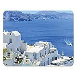 """Addies Mousepad """"Griechische Inseln"""", schönes Mauspad mit schönem Motiv in feiner Cellophan Geschenk-Verpackung mit Kautschuk Untermaterial, 240x190mm, Motiv-10"""