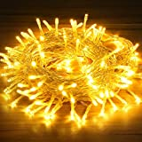 OMERIL Fairy Lights Battery Powered, 130 LEDs 13m/42ft Waterproof String Lights with Timer and 8 Lighting Modes for Bedroom Garden Wedding Christmas Outdoor & Indoor Decoration (Warm White)