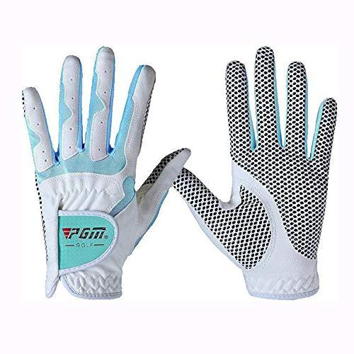 Womens Golf Handschoen Een Paar Linker Hand Rechts Hand, Verbeterde Grip System, Hete Nat Weer Sweat-Absorberen (4 Kleur opties),B,#19