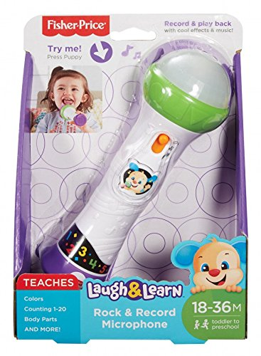 Fisher-Price-900 FBP30 Laugh and Learn Rock/Record - Micrófono de Juguete, Multicolor (Mattel