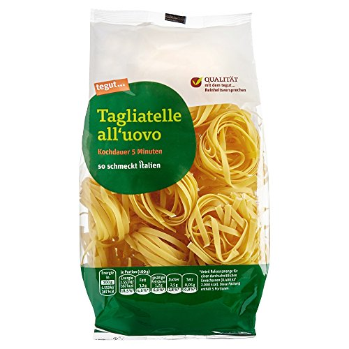 tegut... Italienische Nudeln Tagliatelle all´uovo, 1 x 500 g