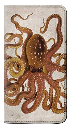 Innovedesire Vintage Octopus Flip Case Cover Custodia per iPhone 5 5S SE
