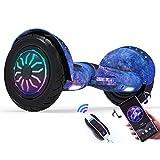 Newut Scooter Elettrico a Due Ruote da 10 Pollici con Altoparlante Wireless Integrato Smart Bluetooth Funzione, tendone e Telecomando per Il Regalo degli Adolescenti,Sky Blue