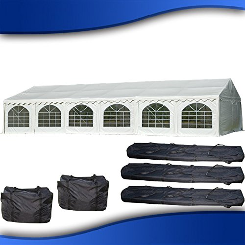 DELTA Canopies 40'x20' PVC Party Tent - Fire Retardant Heavy Duty Wedding Canopy Shelter - with Storage Bags