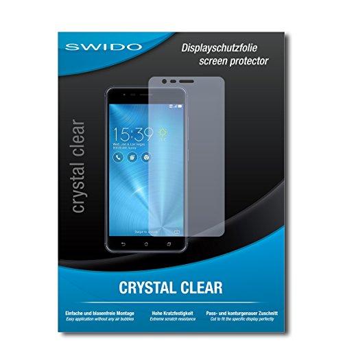 SWIDO Bildschirmschutz für Asus Zenfone Zoom S [4 Stück] Kristall-Klar, Hoher Festigkeitgrad, Schutz vor Öl, Staub & Kratzer/Schutzfolie, Bildschirmschutzfolie, Panzerglas Folie