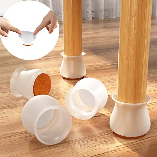 [Upgraded] Chair Leg Protectors for Hardwood Floors (16 PACK),Xeapoms Silicone Furniture Leg Caps Protection Cover Pad for Protecting Wood Floors from Scratches and Noise,Smooth Moving for Chair Feets