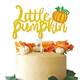 Little Pumpkin Cake Topper for Fall Baby Shower Baby Boys Girls Birthday Party Halloween Thanksgiving Pumpkin Patch Party Decor