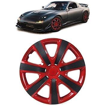 Tenzo R 37449 Radkappen Radzierblenden Tenzo R Ix Für Stahlfelgen 15 Zoll Rot Carbon Auto