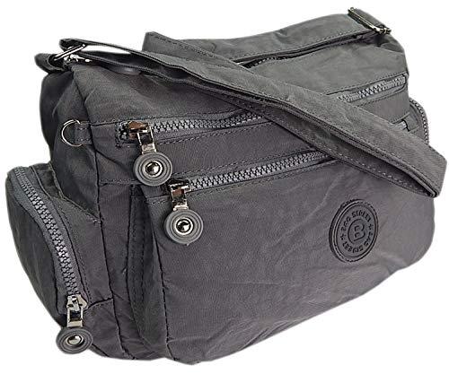 ekavale® Moderne damen Schultertasche für Shopper Freizeit Mittelgroß Umhägetasche für Frauen (Grau)