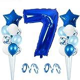 Globo de Cumpleaños 7 año, Globo 7 Año, 7 Cumpleaños Niño, Globo Numero 7 Gigantes, 7 Años Cumpleaños, Number Balloons, Globos Decoracion Bautizo Comunión Fiesta Cumpleaños