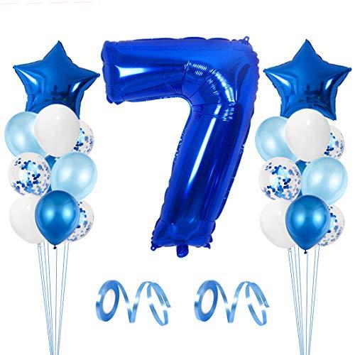 profesional ranking Globos de cumpleaños de 7 años, Globos de 7 años, Cumpleaños del séptimo niño, Números de globos gigantes 7, 7 años … elección