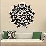 Zonster Negro Mandala Dormitorio Indio Tatuajes de Pared Etiquetas engomadas del Arte casero Mural de Vinilo Familia Hermosa decoración del hogar Pegatinas de Pared