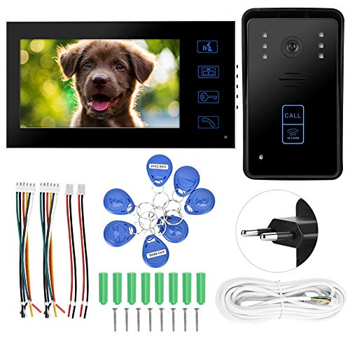Deurbel machine 7 inch tft bedrade video-deurintercom intercom Touch Key ir nachtzicht EU.