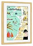 artboxONE Poster mit Rahmen Kiefer 45x30 cm Côte d'Azur -