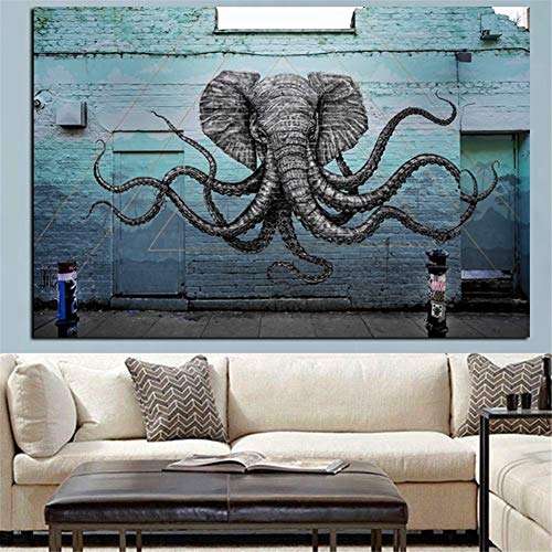 Zestaw 5D zrób to sam diamentowe malarstwo pełne, duży rozmiar, zwierzęcy krake słonia 80 x 160 cm, diament, obraz, kryształ, haft krzyżykowy, haft, Full Drill Diamond Painting, sztuka rękodzieło dla głównej dekoracji ściany