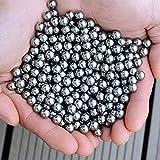Sfera d'acciaio da 6 mm, sfera rotonda in acciaio inossidabile per caccia, sfera portante, 200-6,4 millimetri