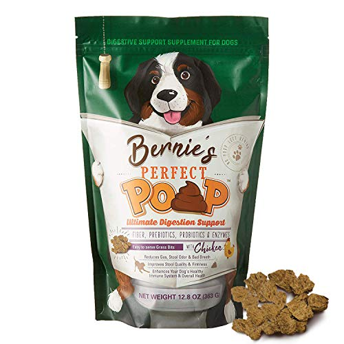 Perfect Poop Digestion & General Health Supplement for Dogs: Fiber, Prebiotics, Probiotics & Enzymes Relieves Digestive Conditions, Optimizes Stool, and Improves Health (Chicken, 4.2)