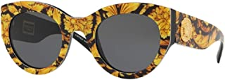 Versace VE4353 Cat Eye Sunglasses For Men For Women+FREE Complimentary Eyewear Care Kit