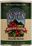 Cafe Altura Organic Coffee, House Blend, Ground Coffee, 12 Ounce Can (Pack Of 6)