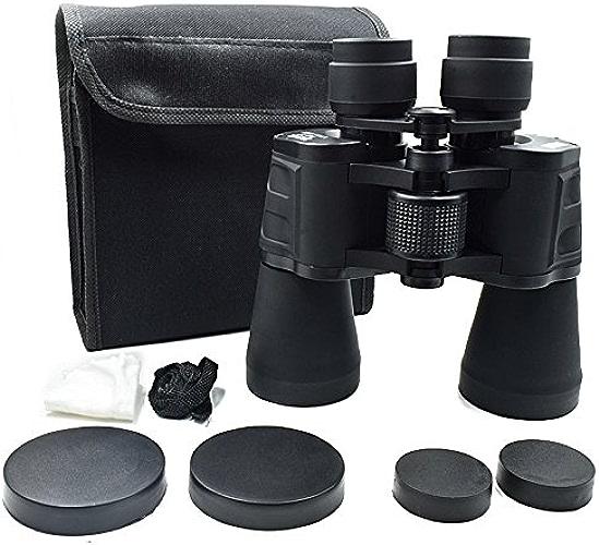 Yu Company YU Jumelles 20X50 Haute Puissance Jumelles Lumière Vision Nocturne HD Noir Télescope Extérieur
