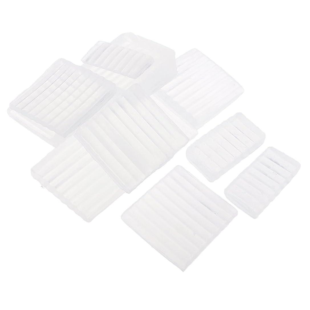 あごひげ瞬時に履歴書Fenteer ホワイト 透明 石鹸ベース DIY 手作り 石鹸 材料 約500g