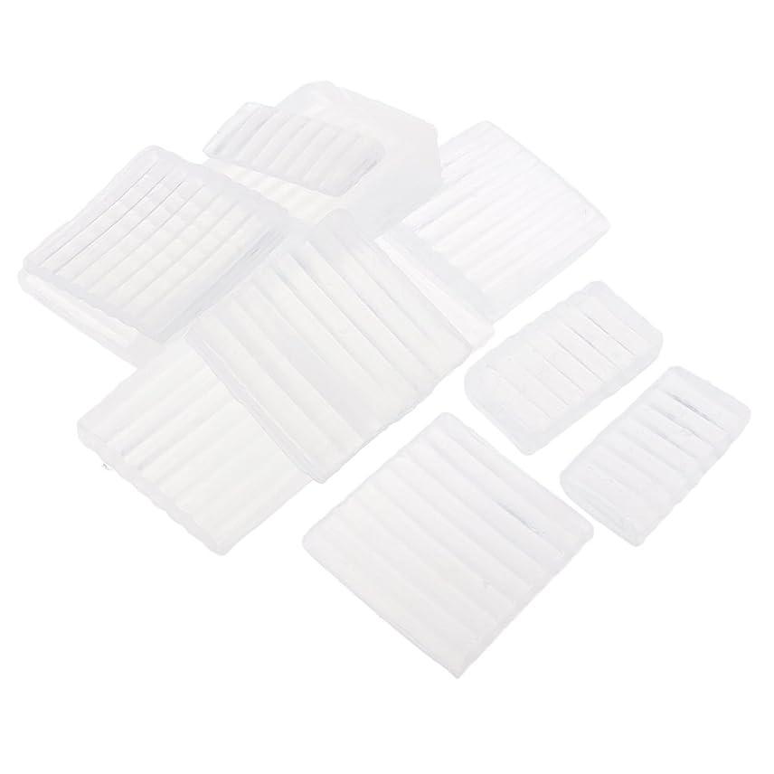 重力受信機メロディアスFenteer ホワイト 透明 石鹸ベース DIY 手作り 石鹸 材料 約500g