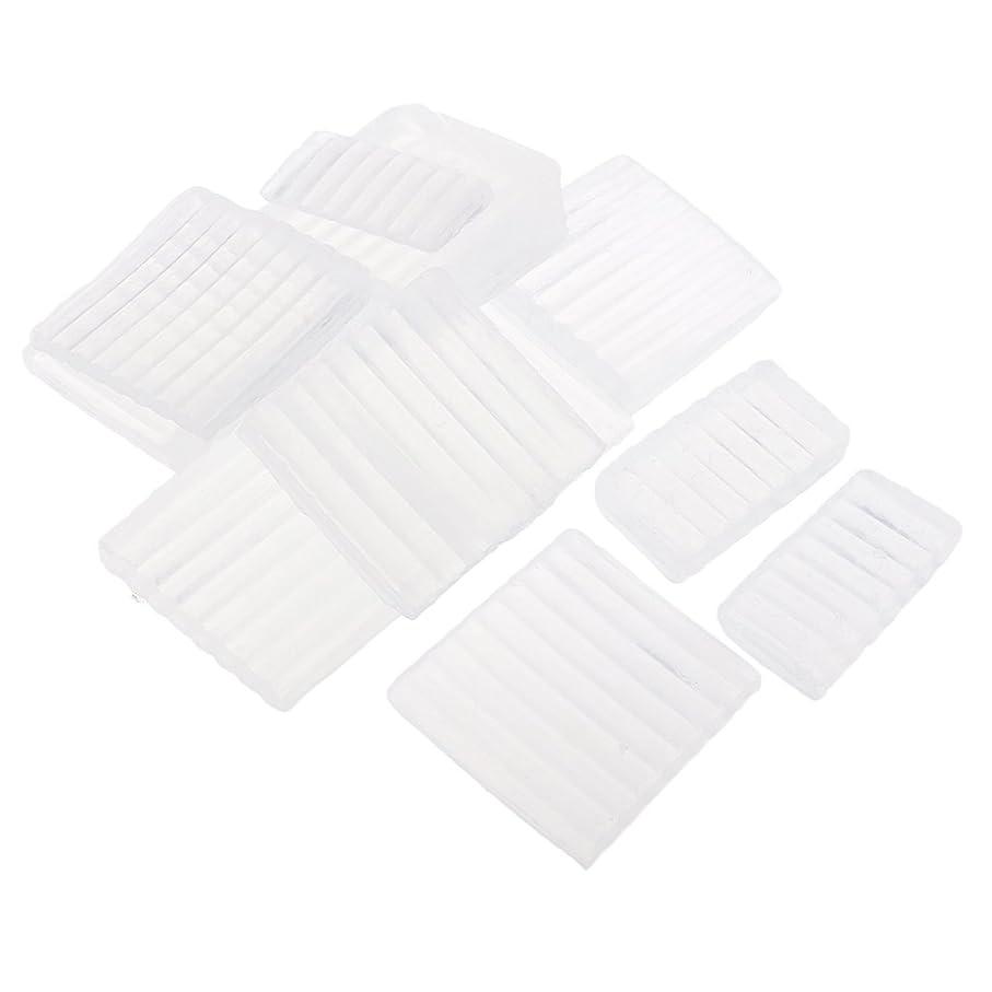無し不条理局Fenteer ホワイト 透明 石鹸ベース DIY 手作り 石鹸 材料 約500g