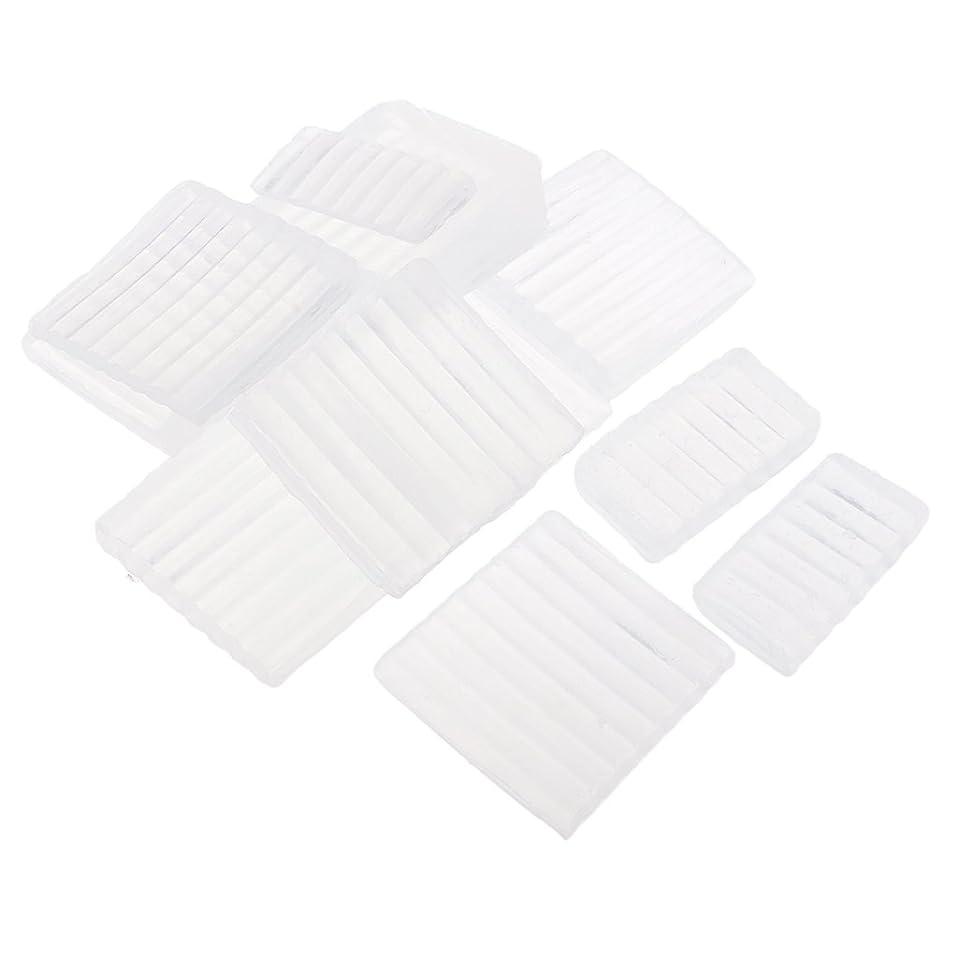 できたフレッシュ法的Fenteer ホワイト 透明 石鹸ベース DIY 手作り 石鹸 材料 約500g