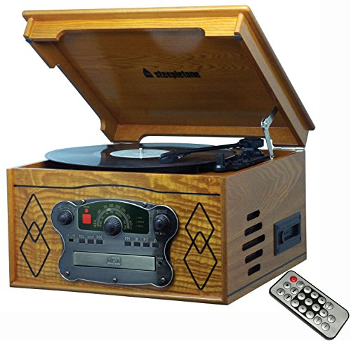 Steepletone Chichester 3, Compact Nostalgic Wood Retro Music Centre, Record...