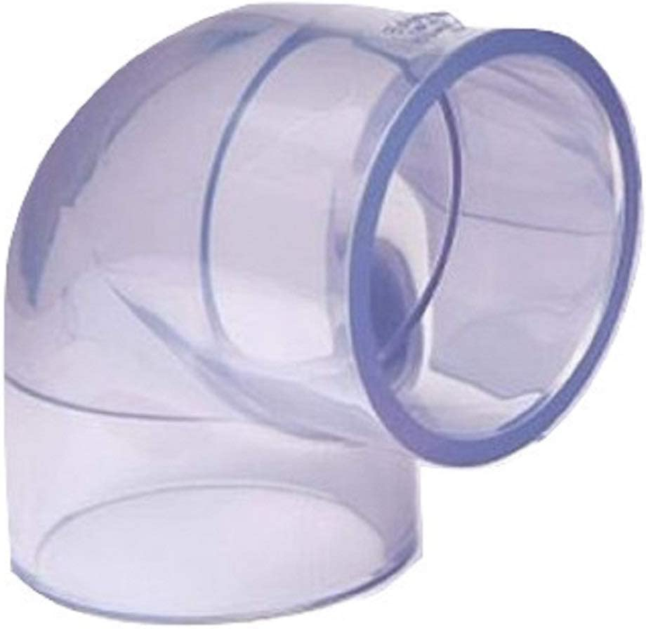 Clear PVC Pipe Fitting bluish tint Gifts Degree Schedule 90 Elbow : Sacramento Mall