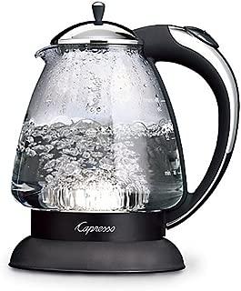Capresso H2O Plus Glass Water Kettle, 360-degree swivel base