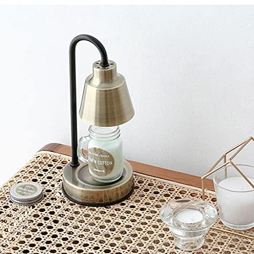 Lampada Termica per Scaldare la Cera, con Temperatura Regolabile, Lampada a Cera di Candela per la Fusione Delle Candele Dall'alto Verso Il Basso, Scaldacandele per Camera da Letto ( Color : Bronze )