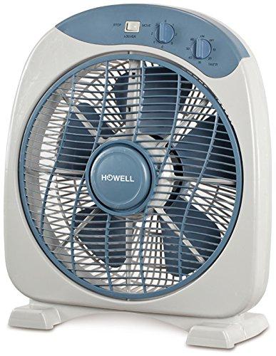Howell VEB341MQ Box Fan con Timer, 40 Watt, Bianco/Blu, 30 cm