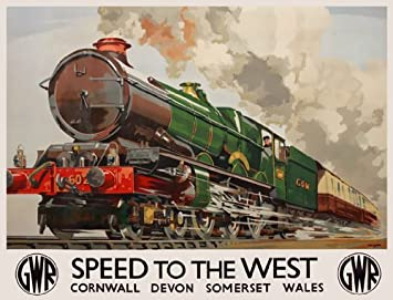 TR63 Vintage UK Wales Welsh GWR Great Western Railway Travel Poster A1//A2//A3//A4
