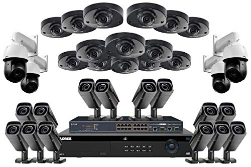 Review Of Lorex HDIP3214144AVZW 32 Channel Security System w/ 14 8MP LNB8973 4K 8MP Vari-Focal Bulle...