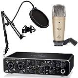 Behringer Pack U-Phoria Estudio Interface USB UMC204HD + Micrófono Estudio C1 + Accesorios Micro